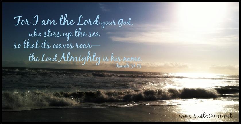 Roaring waves psalms ocean