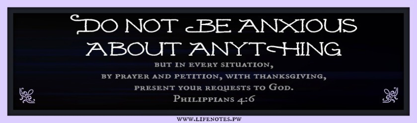 Philippians 4:6-7 be anxious for nothing cancer scan pet scan scanxiety