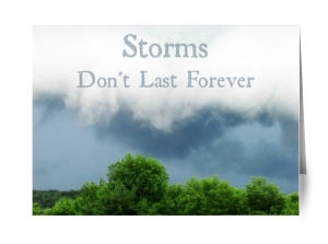 greeting cards, storms don't last forever, cards, note cards, blank note cards