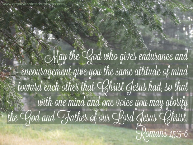 Romans, Romans 5, hope, endurance, perseverance, encouragement, attitude, Christ Jesus, God and Father,