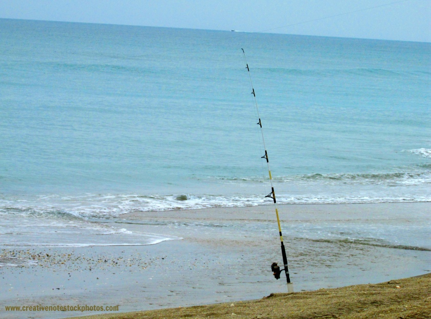 ocean, fishing, sand, beach, florida, after cancer, encouragement, fishing line, fishing pole, stress, joy, peace, waves