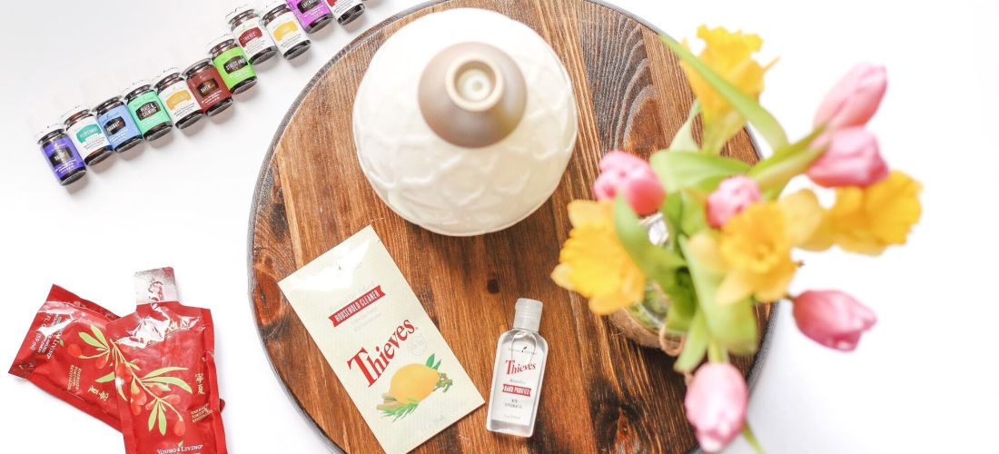 2019 essential oils starter kit diffuser household cleaner antioxidant drink